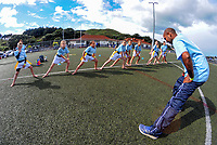 The Northland team stretches. Day one of the 2017 Air NZ Rippa Rugby Championship at Wakefield Park in Wellington, New Zealand on Monday, 18 September 2017. Photo: Dave Lintott / lintottphoto.co.nz