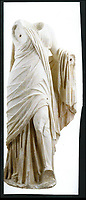 BNPS.co.uk (01202 558833)<br /> Pic: FineArtsMuseumSanFrancisco/BNPS<br /> <br /> Now: Greek goddess Thalia from Delos, second century BC.<br /> <br /> The traditional view of the classical world full of austere white marble statue's and buildings has been transformed by a new book - that reveals the ancient world was in fact full of vibrant colours.<br /> <br /> Painstaking new research has discovered that most of the worlds most iconic art works from ancient Greece and Rome were in fact plastered with vibrant colours.<br /> <br /> However over the centuries the bright colours faded due to exposure to the elements and Renaissance maestros like Leonardo da Vinci and Michelangelo working in the 15th century believed it was the norm for sculptures to be white.<br /> <br /> Now, scientists are able to use ultra-violet photography to examine ancient pigment's and recreate how sculptures dating back to the Classical age would have looked.