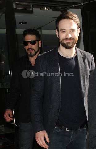 03 10, 2016: Charlie Cox and Jon Bernthal  at Good Day NY  to talk about 2nd season of Marvel NETFLIX  series Daredevil Returns in New York. Credit:RW/MediaPunch