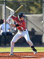 Orangewood Christian Rams first baseman Jackson Lueck (8) during a game against the Olympia Titans at Olympia High School on February 19, 2014 in Olympia, Florida.  (Mike Janes/Four Seam Images)