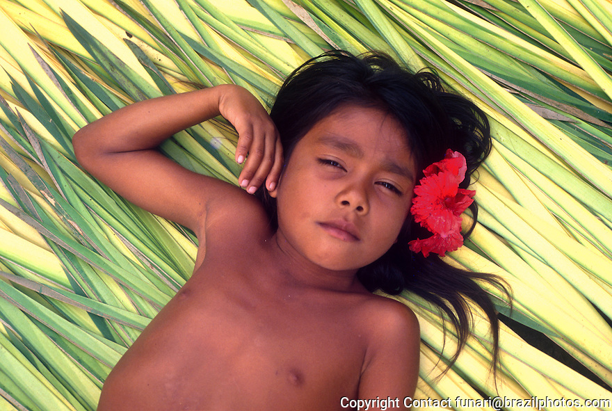 Girl from Amazon rain forest. State: Pará, Brazil.