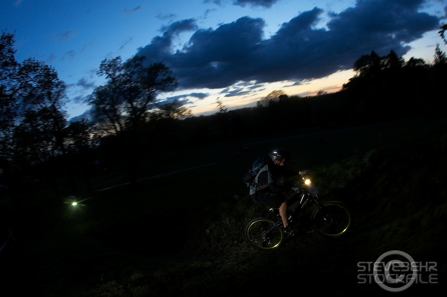 NIght Time Trial ..Wiggle Enduro Event , Catton Park , Derbyshire April 2009..pic copyright Steve Behr / Stockfile