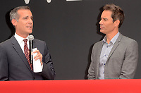 "Eric Garcetti, Eric McCormack<br /> at the ""Will & Grace"" Start of Production Kick Off Event, Universal Studios, Universal City, CA 08-02-17<br /> David Edwards/DailyCeleb.com 818-249-4998"