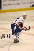 March 15, 2009:  Right Wing Mike Glumac (15) of the Hamilton Bulldgos, AHL affiliate of Montreal Canadians, during overtime of a regular season game at the Blue Cross Arena in Rochester, NY.  Hamilton defeated Rochester 4-3 in a shoot out.  Photo Copyright Mike Janes Photography 2009