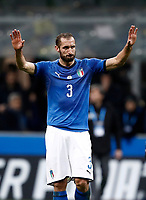 Soccer Football - 2018 World Cup Qualifications - Europe - Italy vs Sweden - San Siro, Milan, Italy - November 13, 2017 <br /> Italy's Giorgio Chiellini looks dejected at the end of the FIFA World Cup 2018 qualification football match between Italy and Sweden at the San Siro stadium in Milan, on November 13, 2017. <br /> Italy failed to reach the World Cup for the first time since 1958.<br /> UPDATE IMAGES PRESS/Isabella Bonotto