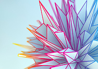 Close up of spiked geometric shapes
