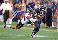 Florida International University football player defensive back Richard Leonard (3) plays against the University of Louisiana-Lafayette on September 24, 2011 at Miami, Florida. Louisiana-Lafayette won the game 36-31. .