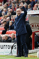 Swansea City manager Steve Cooper reacts on the touch line during the Sky Bet Championship match between Barnsley and Swansea City at Oakwell Stadium, Barnsley, England, UK. Saturday 19 October 2019