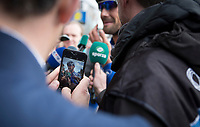 Capturing Tom Boonen (BEL/Quick Step Floors) post-race<br /> <br /> 105th Scheldeprijs 2017 (1.HC)<br /> 1day race: Mol &gt; Schoten 200km