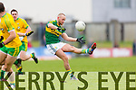 Barry John Keane Kerry in action against Paddy McGrath Donegal in Division One of the National Football League at Austin Stack Park Tralee on Sunday.