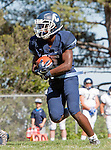 Palos Verdes, CA 09/24/16 - Ejaay Vaughn (Chadwick #3) in action during the non-conference CIF 8-Man Football  game between Rolling Hills Prep and Chadwick at Chadwick.