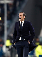 Football Soccer: UEFA Champions League Juventus vs Tottenahm Hotspurs FC Round of 16 1st leg, Allianz Stadium. Turin, Italy, February 13, 2018. <br /> Juventus' coach Massimiliano Allegri speaks to his players during the Uefa Champions League football soccer match between Juventus and Tottenahm Hotspurs FC at Allianz Stadium in Turin, February 13, 2018.<br /> UPDATE IMAGES PRESS/Isabella Bonotto