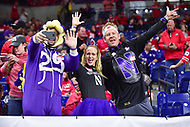 Indianapolis, IN - DEC 1, 2018: Northwestern Wildcats fans before Big Ten Championship game between Northwestern and Ohio State at Lucas Oil Stadium in Indianapolis, IN. Ohio State defeated Northwestern 45-24. (Photo by Phillip Peters/Media Images International)