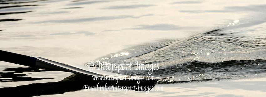 Eton, Berkshire, ENGLAND. British International Rowing, Team announcment,Blade skimming through the water. for 2006 World Cup Regattas' Peter Spurrier/Intersport Images,.Mobile 44 (0) 7973 819 551.email images@intersport-images.com   [Mandatory Credit, Peter Spurier/ Intersport Images].