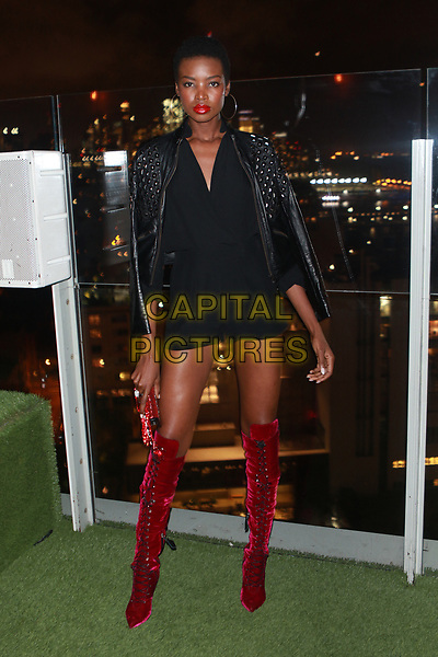NEW YORK, NY - OCTOBER 23: Maria Borges at the after party for the V Magazine Dinner in honor of Karl Lagerfeld Le Bain at The Standard High Line in New York City on October 23, 2017. <br /> CAP/MPI/DIE<br /> &copy;DIE/MPI/Capital Pictures