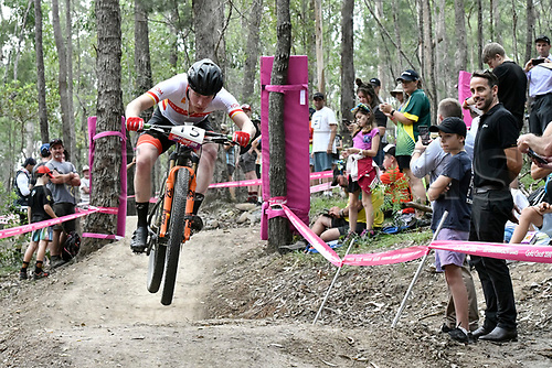12th April 2018, Nerang Mountain Bike Trails, Gold Coast, Australia; Commonwealth Games day 8; Men's Cross Country; Nicholas Corlett of the Isle of Man
