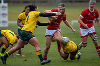 Canada flanker Karen Paquin in action during the 2017 International Women's Rugby Series rugby match between Canada and Australia Wallaroos at Smallbone Park in Rotorua, New Zealand on Saturday, 17 June 2017. Photo: Dave Lintott / lintottphoto.co.nz