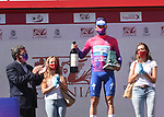 Remco Evenepoel (BEL) Deceuninck-Quick Step takes the overall general classification the end of Stage 5 of the Vuelta a Burgos 2020, running 158km from the Covarrubias to Lagunas de Neila, Spain. 1st August 2020. <br /> Picture: Colin Flockton | Cyclefile<br /> <br /> All photos usage must carry mandatory copyright credit (© Cyclefile | Colin Flockton)