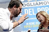 Manifestazione Fratelli d'Italia e Lega contro il governo Conte