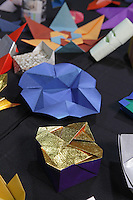 OrigamiUSA 2014 exhibition. Origami models designed by Nick Robinson