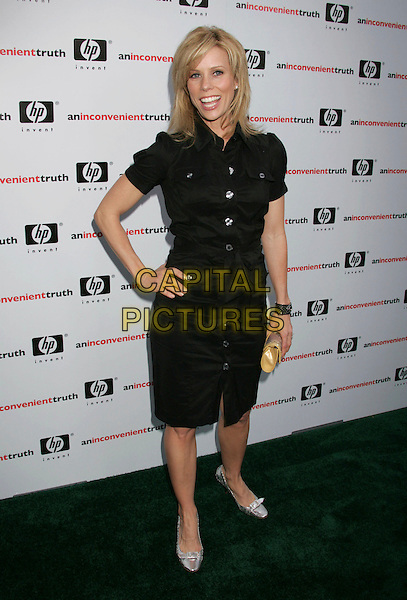 "CHERYL HINES.""An Inconvenient Truth"" Los Angeles Premiere held at the Director's Guild of America, Los Angeles, California, USA..May 16th, 2006.Photo: Russ Elliot/AdMedia/Capital Pictures.Ref: RE/ADM.full length black shirt dress hand on hip.www.capitalpictures.com.sales@capitalpictures.com.© Capital Pictures."