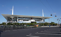 Seilbahn fährt ins Hard Rock Stadium - 22.01.2020: SB LIV im Hard Rock Stadium Miami