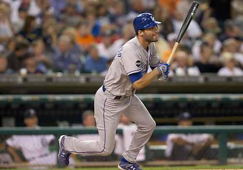 August 29, 2011:  Kansas City Royals right fielder Jeff Francoeur (#21) at bat during MLB game action between the Kansas City Royals and the Detroit Tigers at Comerica Park in Detroit, Michigan.  The Royals defeated the Tigers 9-5.