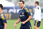 19 November 2011: Todd Dunivant. The Los Angeles Galaxy held a practice session at the Home Depot Center in Carson, CA one day before playing in MLS Cup 2011.
