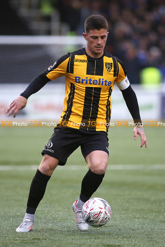 Jack Paxman of Maidstone United in action during Maidstone United vs Oldham Athletic, Emirates FA Cup Football at the Gallagher Stadium on 1st December 2018