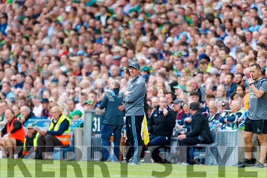 Dublin Manager Jim Gavin during the GAA Football All-Ireland Senior Championship Final match between Kerry and Dublin at Croke Park in Dublin on Sunday.