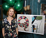 """Kate MacCluggage attends the Birthday Party Photo Call for the Wheelhouse Theater Company production of Kurt Vonnegut's """"Happy Birthday, Wanda June""""  on October 3, 2018 at Bond 45 Times Square in New York City."""