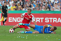 Sebastian Andersson, Dennis Slamar /   /        /      <br /> / Sport / Football / DFB Pokal 1.round 3. Bundesliga 2.Bundesliga /  2018/2019 / 19.08.2018 / FC CZ Jena vs. 1.FC Union Berlin / DFL regulations prohibit any use of photographs as image sequences and/or quasi-video. /<br />       <br />    <br />  *** Local Caption *** &copy; pixathlon<br /> Contact: +49-40-22 63 02 60 , info@pixathlon.de