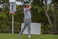 Lee Westwood (GBR) watches his tee shot on 2 during day 3 of the WGC Dell Match Play, at the Austin Country Club, Austin, Texas, USA. 3/29/2019.<br /> Picture: Golffile | Ken Murray<br /> <br /> <br /> All photo usage must carry mandatory copyright credit (© Golffile | Ken Murray)
