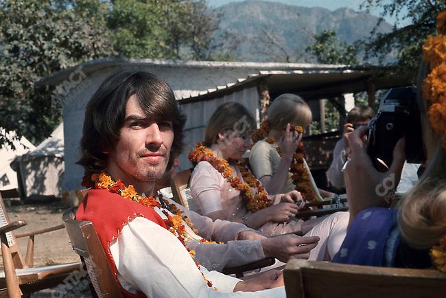 George Harrison, Maharishi Mahesh Yogi's ashram.Rishikesh, India, January 1968