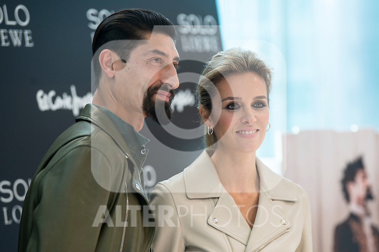 Paolo Henriques and Alejandra Silva during the presentation of the new perfume SOLO LOEWE Cedro at El Corte Ingles Castellana in Madrid, October 06, 2015.<br /> (ALTERPHOTOS/BorjaB.Hojas)