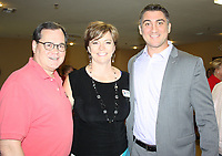 NWA Democrat-Gazette/CARIN SCHOPPMEYER Mark Kinion (from left), Angela Belford and Clint Penzo attend the Peace at Home opening.