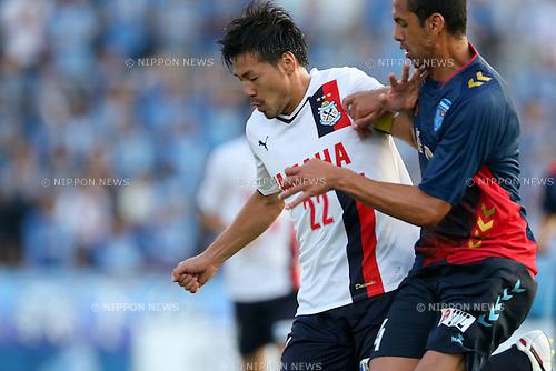Daisuke Matsui (Jubilo), <br /> JULY 26, 2014 - Football /Soccer : <br /> 2014 J.LEAGUE Division 2 <br /> between Yokohama FC 4-0 Jubilo Iwata <br /> at NHK Spring Mitsuzawa Football Stadium, Kanagawa, Japan. <br /> (Photo by AFLO SPORT) [1205]