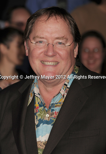LOS ANGELES, CA - FEBRUARY 22: John Lasseter attends the 'John Carter' Los Angeles premiere held at the Regal Cinemas L.A. Live on February 22, 2012 in Los Angeles, California.