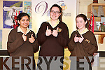 Presentation Convent, Listowel Leaving cert students. L- R: nav Kaur, Alannah Shine & Maggie Dennehy.