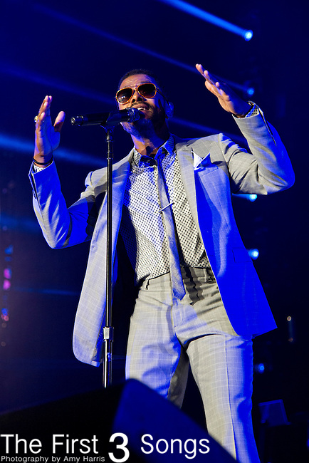 Maxwell (born Gerald Maxwell Rivera) performs at the 2013 Essence Festival at the Mercedes-Benz Superdome in New Orleans, Louisiana.