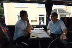 Aldershot Town 0 Torquay United 3, 15/08/2007. Plainmoor, Football Conference. Torquay's first game in the Blue Square Premier. A 330 mile round trip to Aldershot Town's Recreation Ground. Manager Paul Buckle studies his  notes and makes phone calls on the team bus before departing on the long journey to Hampshire.