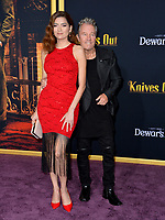 "LOS ANGELES, USA. November 15, 2019: Blanca Blanco & John Savage at the premiere of ""Knives Out"" at the Regency Village Theatre.<br /> Picture: Paul Smith/Featureflash"