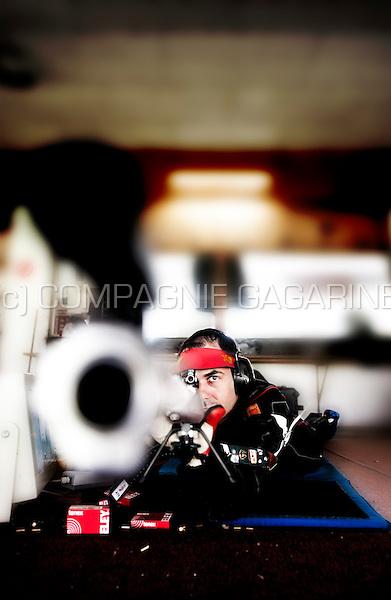 Belgian olympic sport shooter Lionel Cox (Belgium, 16/06/2012)