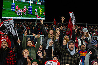 Crusaders fans react to a try during the 2018 Super Rugby final between the Crusaders and Lions at AMI Stadium in Christchurch, New Zealand on Sunday, 29 July 2018. Photo: Joe Johnson / lintottphoto.co.nz