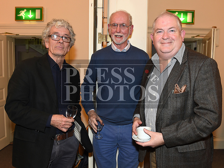 Brian and Trench, John Callan and Nick Reilly at the Bea Orpen exhibition in Barlow House. Photo:Colin Bell/pressphotos.ie