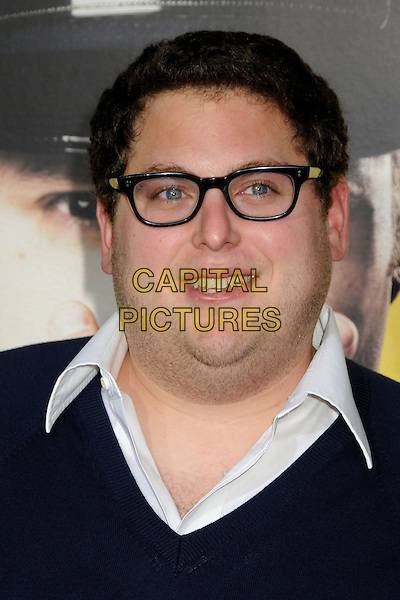 "JONAH HILL.""Observe And Report"" Los Angeles Premiere held at Grauman's Chinese Theatre, Hollywood, CA., USA..April 6th, 2009.headshot portrait black glasses .CAP/ADM/BP.©Byron Purvis/AdMedia/Capital Pictures."