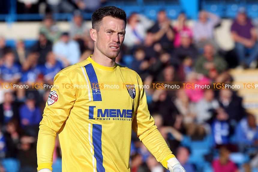 Gillingham goalkeeper, Stuart Nelson - Gillingham vs Crawley Town - Sky Bet League One Football at Priestfield Stadium, Gillingham Kent - 25/10/14 - MANDATORY CREDIT: Paul Dennis/TGSPHOTO - Self billing applies where appropriate - contact@tgsphoto.co.uk - NO UNPAID USE