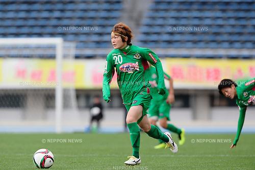 Mizuho Sakaguchi (Beleza), <br /> OCTOBER 31, 2015 - Football / Soccer : <br /> Plenus Nadeshiko League 2015 <br /> between NTV Beleza 2-0 Jef Chiba Ladies <br /> at Komazawa Olympic Park Stadium, Tokyo, Japan. <br /> (Photo by AFLO SPORT)