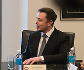 Tesla CEO Elon Musk is seen at a meeting of technology leaders in the Trump Organization conference room at Trump Tower in New York, NY, USA on December 14, 2016. <br /> Credit: Albin Lohr-Jones / Pool via CNP