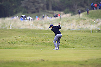 Paul Dunne (IRL) on the 3rd fairway during Round 1 of the Betfred British Masters 2019 at Hillside Golf Club, Southport, Lancashire, England. 09/05/19<br /> <br /> Picture: Thos Caffrey / Golffile<br /> <br /> All photos usage must carry mandatory copyright credit (© Golffile | Thos Caffrey)